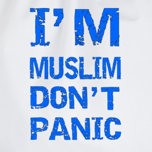 I'm Muslim Don't Panic in Blau T-Shirts - Turnbeutel