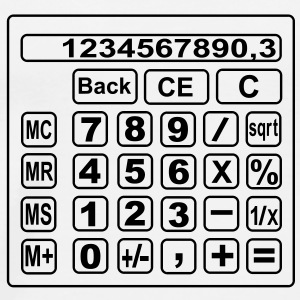 math Calculator Flaskor & muggar - Premium-T-shirt herr