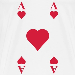 ace of hearts, playing card  Shirts - Men's Premium T-Shirt