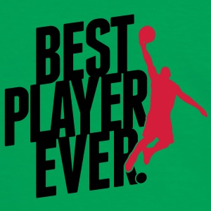 Baketball - Best player ever Väskor - Kontrast-T-shirt herr