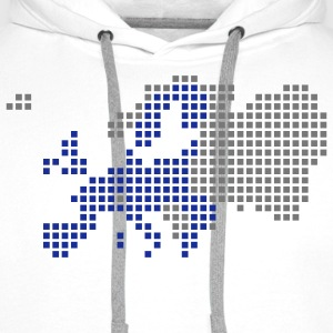 White/black EU - European Union T-Shirts - Men's Premium Hoodie