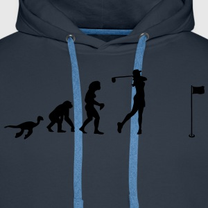 Evolution Women's Golf  T-Shirts - Men's Premium Hoodie