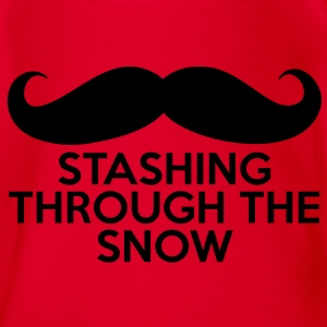 Stashing Through The Snow T-Shirts - Baby Bio-Kurzarm-Body