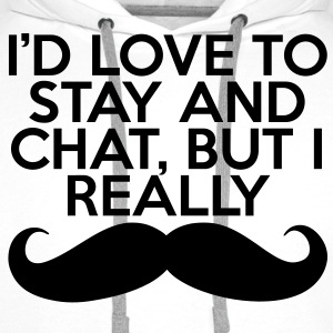 I Really Mustache  Skjorter - Premium hettegenser for menn