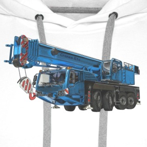 Mobile Crane 4-axle - Blue - Men's Premium Hoodie