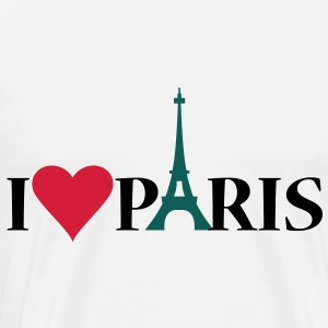 I Love / Heart Paris - Premium T-skjorte for menn