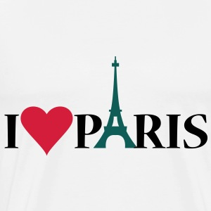 I Love / Heart Paris - Herre premium T-shirt