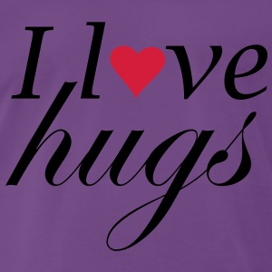 I Love hugs 2 - Premium-T-shirt herr