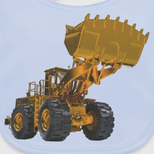 Old Mining Wheel Loader - Yellow Shirts - Baby Organic Bib