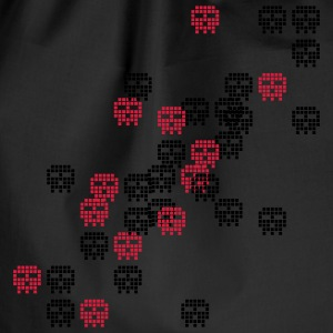 Black pixel skull game shot T-Shirts - Drawstring Bag