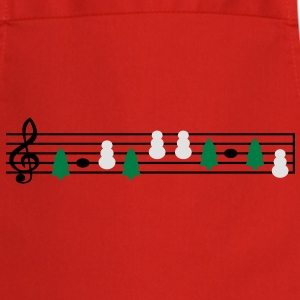christmas music sheet music T-Shirts - Cooking Apron
