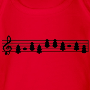 christmas music sheet music Shirts - Organic Short-sleeved Baby Bodysuit