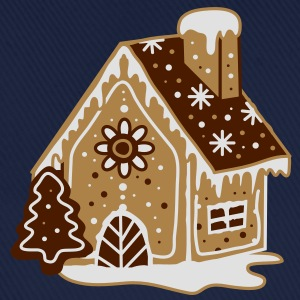A gingerbread house, gingerbread and frosting  Hoodies & Sweatshirts - Baseball Cap