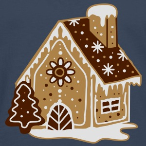A gingerbread house, gingerbread and frosting  Hoodies & Sweatshirts - Men's Premium Longsleeve Shirt