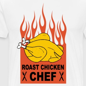 roast chicken chef  Aprons - Men's Premium T-Shirt