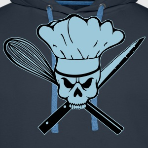 Cook Pirat or Cook Rebell skull T-shirts - Premiumluvtröja herr