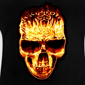 Fire Skull | Teenager T-Shirt - Baby T-Shirt