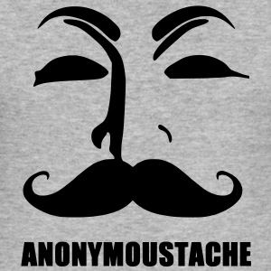 anonymoustache Gensere - Slim Fit T-skjorte for menn