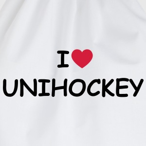 I love/heart Unihockey T-Shirt - Turnbeutel