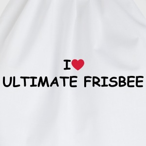 I love/heart Ultimate Frisbee T-Shirt - Turnbeutel