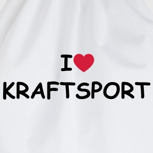 I love/heart Kraftsport T-Shirt - Turnbeutel