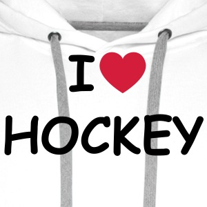 I love/heart Hockey T-Shirt - Männer Premium Hoodie