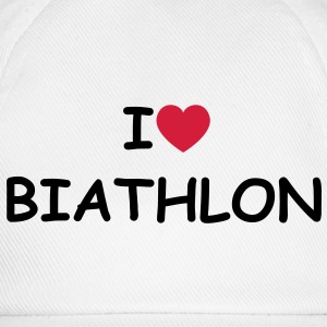 I love/heart Biathlon T-Shirt - Baseballkappe