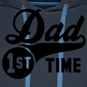 1st (first) TIME Dad T-Shirt WN - Felpa con cappuccio premium da uomo