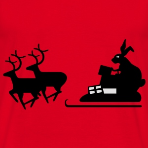 Santa vs Easter Bunny - T-skjorte for menn