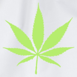Wit/navy Cannabis (1c) T-shirts - Gymtas