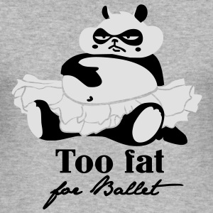 Too fat for Ballet Gensere - Slim Fit T-skjorte for menn