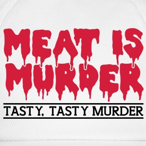 Meat is murder T-skjorter - Baseballcap