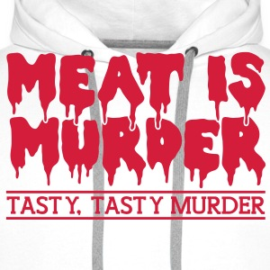 Meat is murder T-Shirts - Men's Premium Hoodie