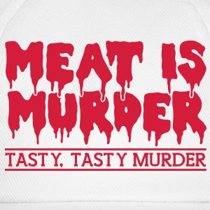 Meat is murder T-Shirts - Baseball Cap