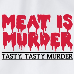 Meat is murder Bottles & Mugs - Drawstring Bag