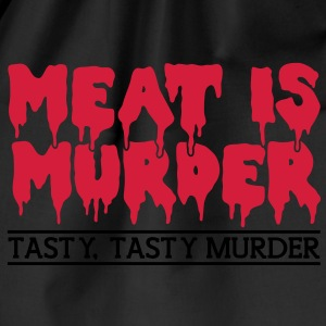 Meat is murder Shirts - Drawstring Bag