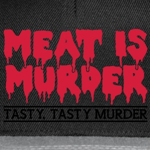 Meat is murder Shirts - Snapback Cap