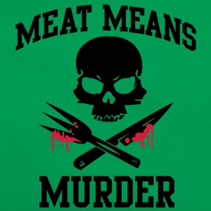 Meat means murder T-Shirts - Retro Bag