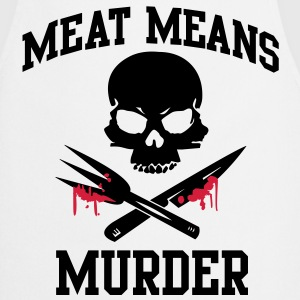 Meat means murder T-Shirts - Cooking Apron