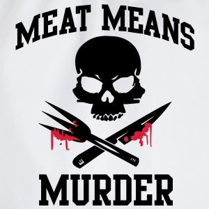 Meat means murder T-Shirts - Drawstring Bag