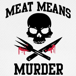 Meat means murder T-Shirts - Baseball Cap