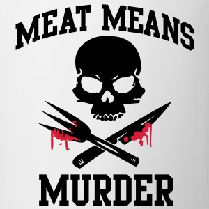 Meat means murder T-Shirts - Mug