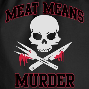 Meat means murder Shirts - Drawstring Bag