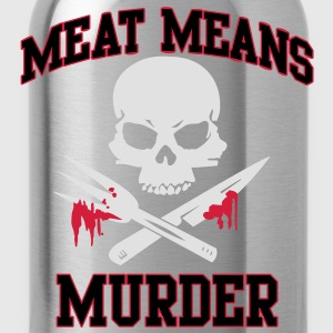 Meat means murder Shirts - Water Bottle