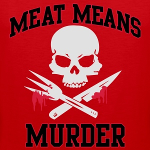 Meat means murder T-Shirts - Men's Premium Tank Top