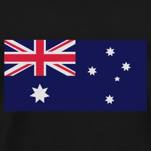 Black Australian Flag Bags  - Men's Premium T-Shirt