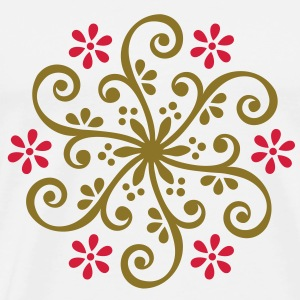 Wheel of Fortune - Mehndi Ornament Gensere - Premium T-skjorte for menn