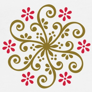 Wheel of Fortune - Mehndi Ornament Borse - Maglietta Premium da uomo