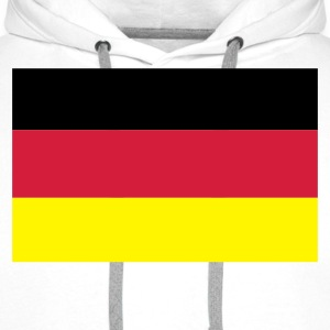 White German Flag Long sleeve shirts - Men's Premium Hoodie