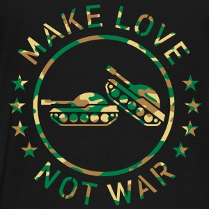 Make Love Not War (Camouflage) Hoodie - Men's Premium T-Shirt